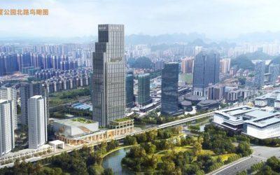 拔天高樓從地起、坐擁金城買福達!投资价值再升级!临桂第一高楼开工建设!位置就在文武巷旁!