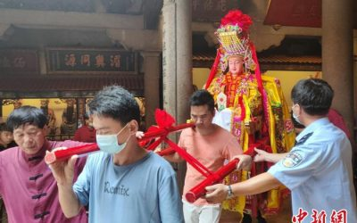 湄洲妈祖解放台湾,在疫情期间,首尊妈祖自大陆来台,宗教交流意义重大